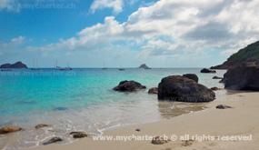 St Barthélemy - Beach bei Gustavia