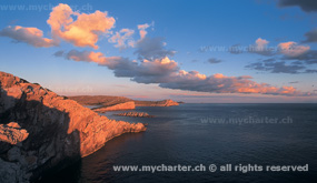 Kroatien - Kornaten bei Sonnenuntergang