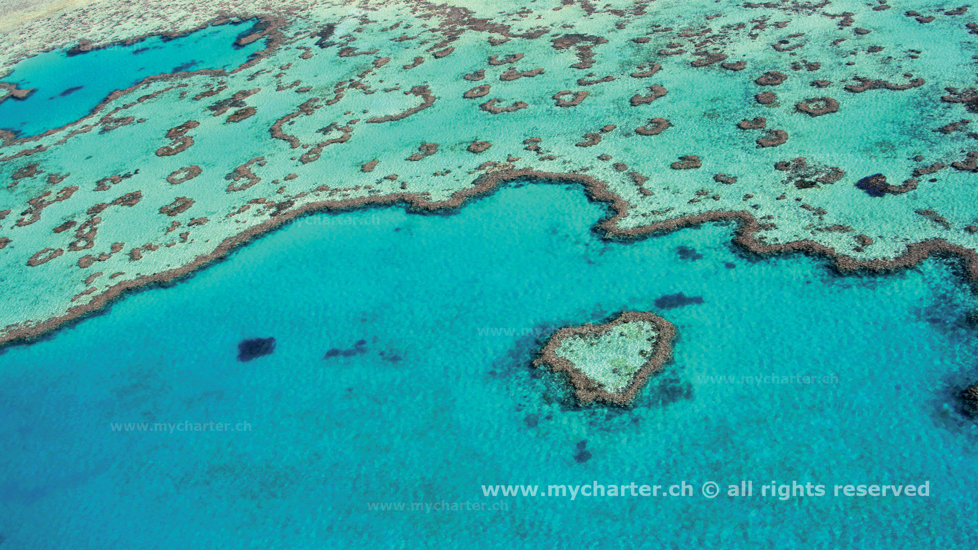 Yachtcharter Australien - Heart Reef Great Barrier Reef