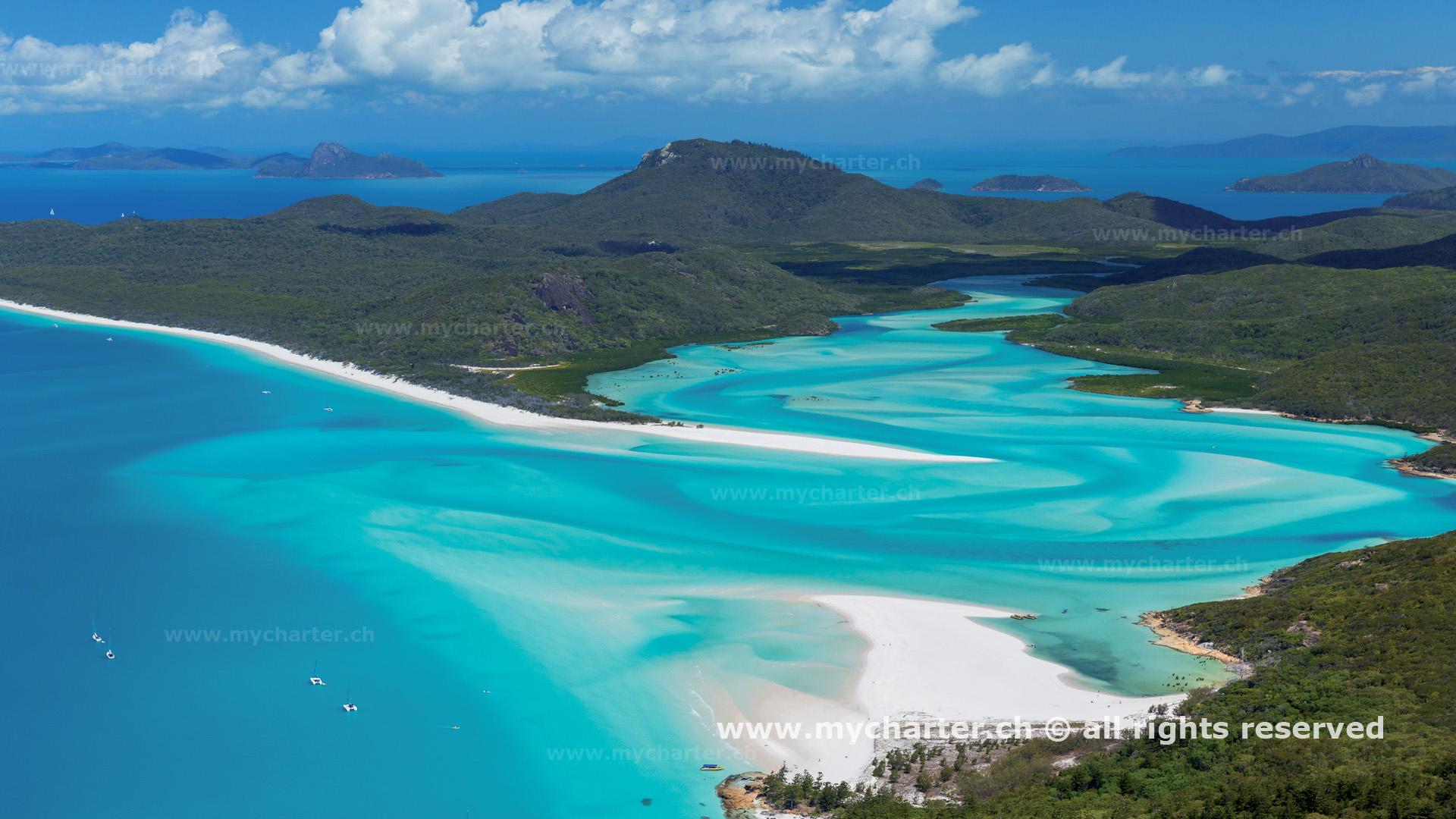 Yachtcharter Südesee - Australien - Whitehaven Beach