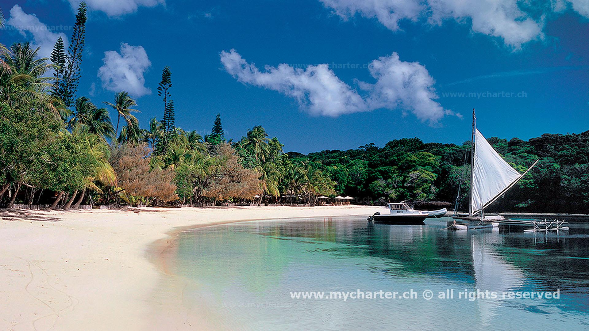 Yachtcharter Südesee - Neukaledonien - Baie de Canumera