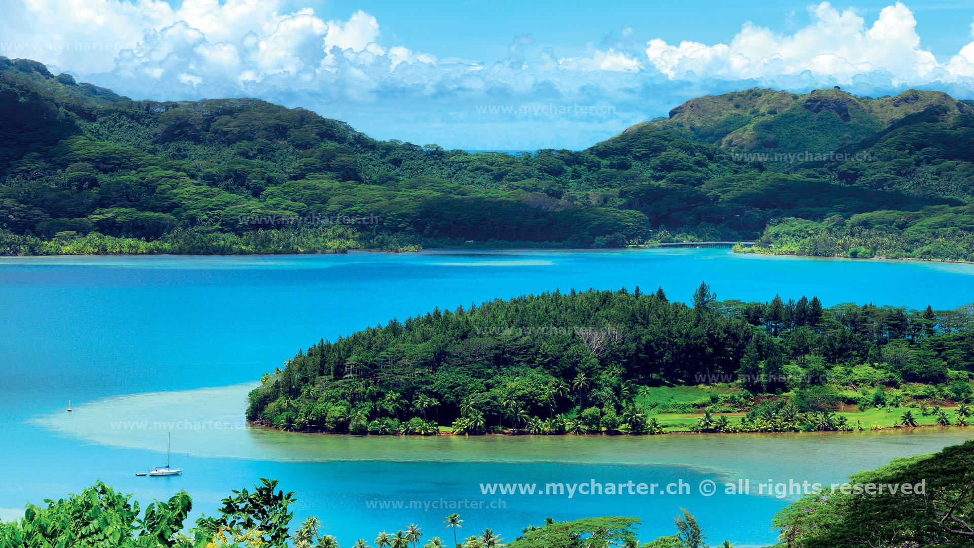 Segeln Tahiti Insel Huahine