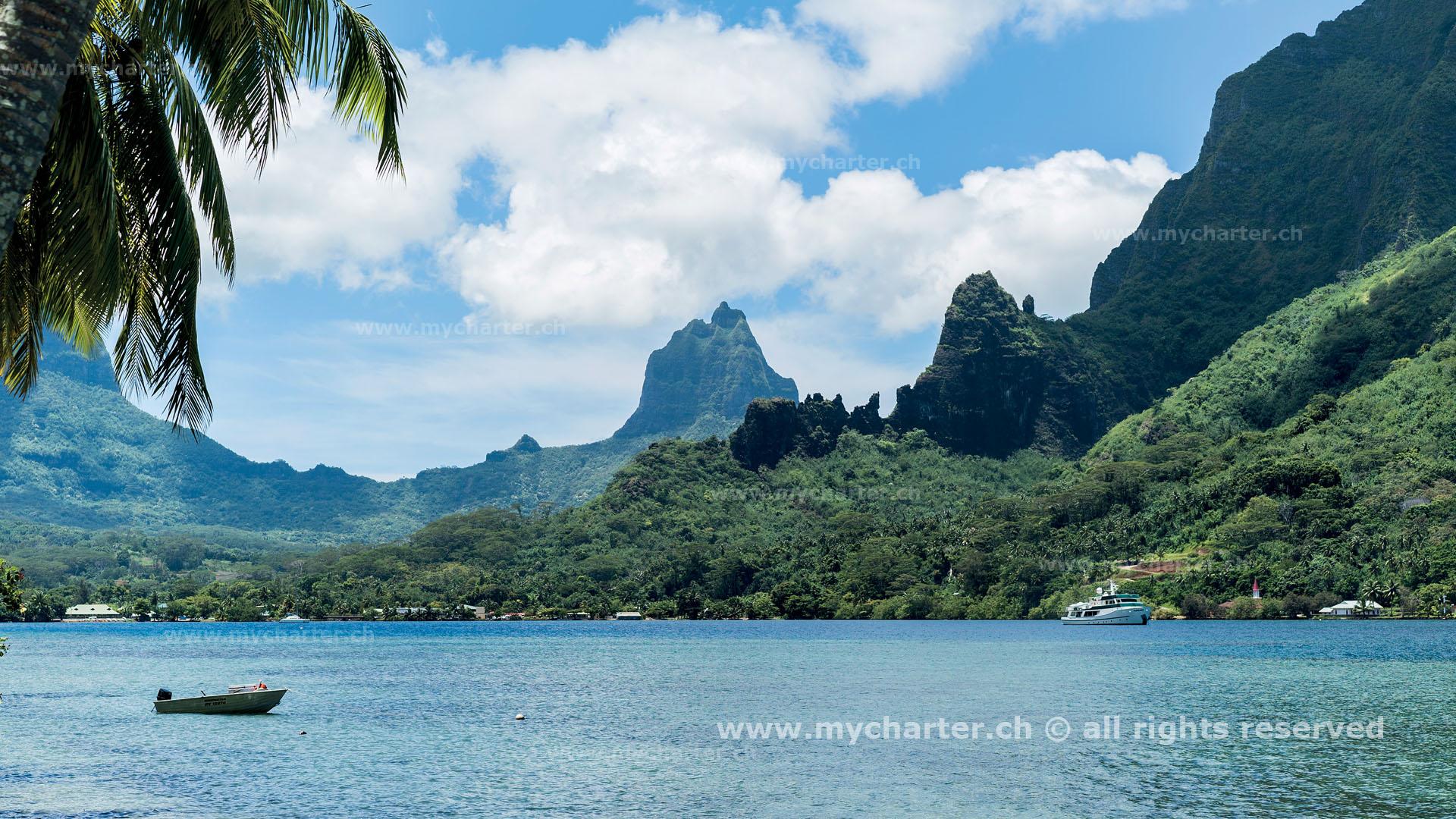 Segeln Tahiti Insel Moorea